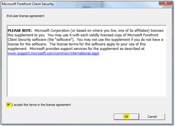 Microsoft security essentials & forefront client security de 1. 111.