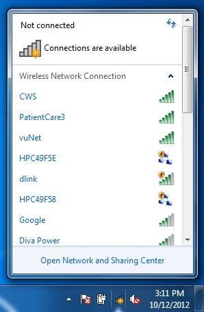 Configuration: vuNet - Win7 | Wireless | Network | Services