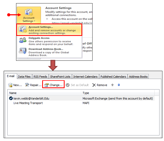 how to connect yrdsb email to personal outlook 2013